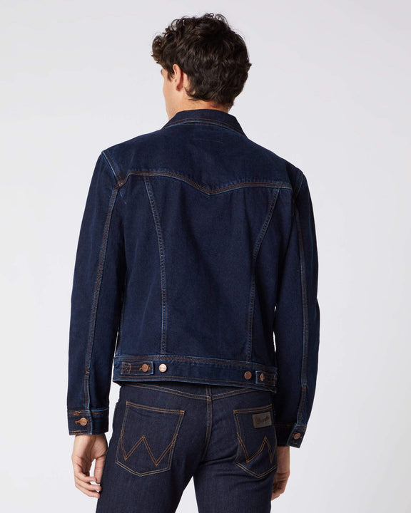 Wrangler Western Denim Jacket - Blue Black Wrangler Jackets & Coats Wrangler Western Denim Jacket - Blue Black - Jeans and Street Fashion from Jeanstore