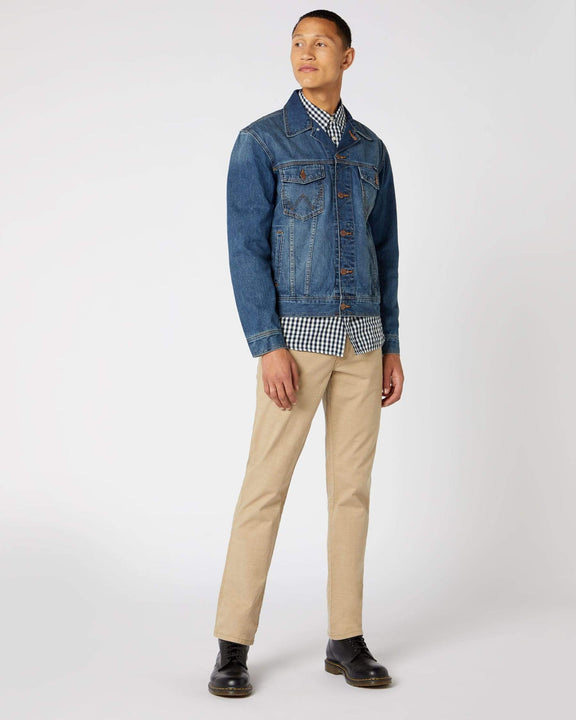 Wrangler Western Denim Jacket - Mid Stone Wrangler Jackets & Coats Wrangler Western Denim Jack- Mid Stone | Street Fashion from Jeanstore