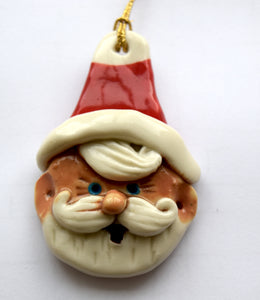 Handmade Porcelain Xmas Tee Decorations