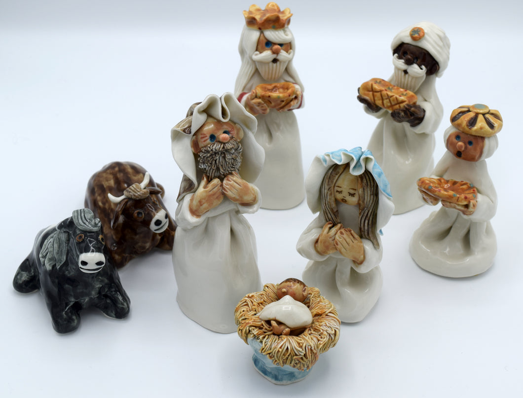 Handmade Irish Porcelain Nativity Set