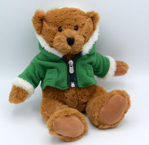 Teddy in Green Jacket Soft Toy