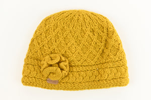 Aran Trellis Design Pullon Hat