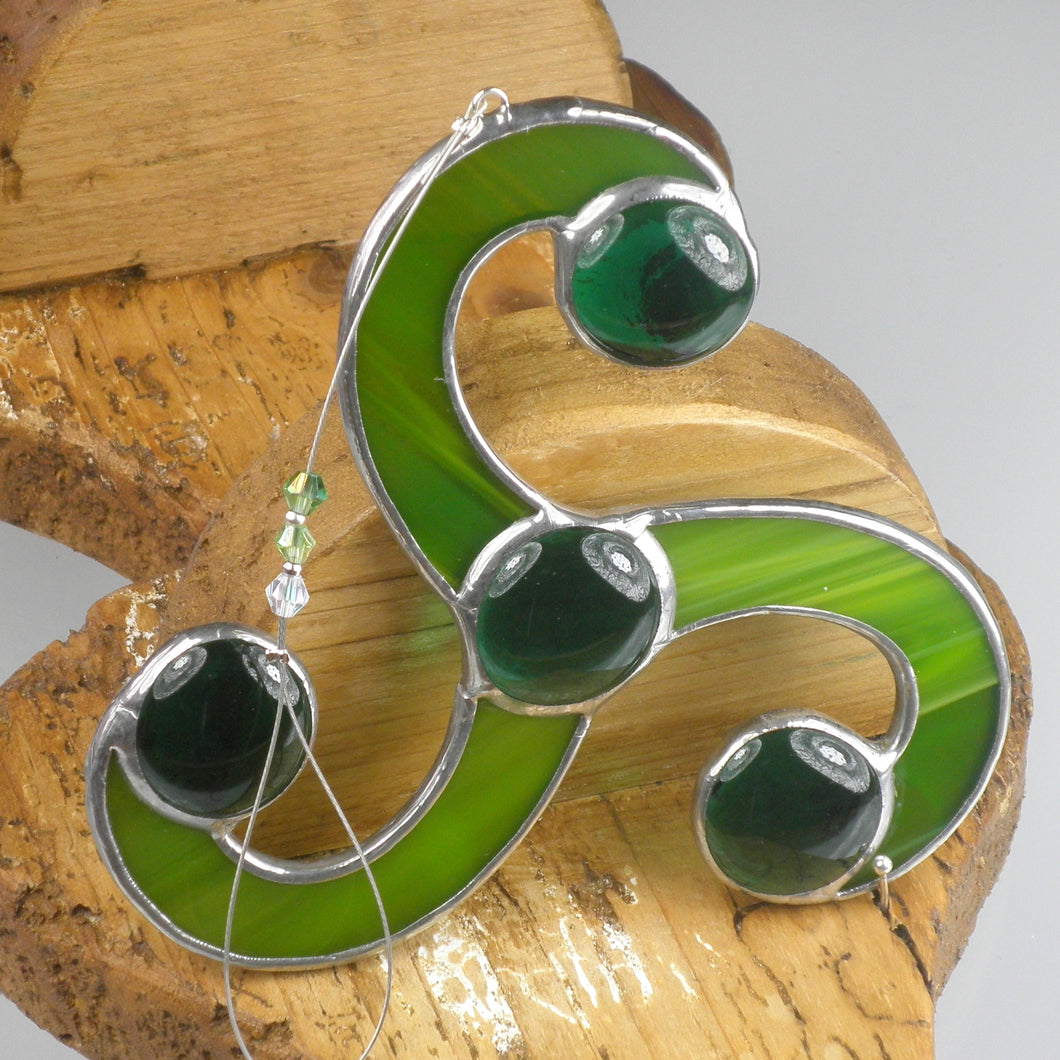 Sun catcher - Celtic Triple Spiral