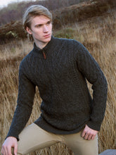 Zip Neck Traditional Irish Knit Sweater