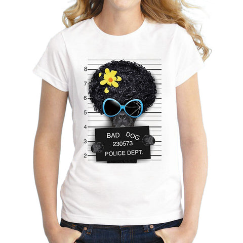 "New! Funny ""Bad Dog"" Hipster Women's Tees"