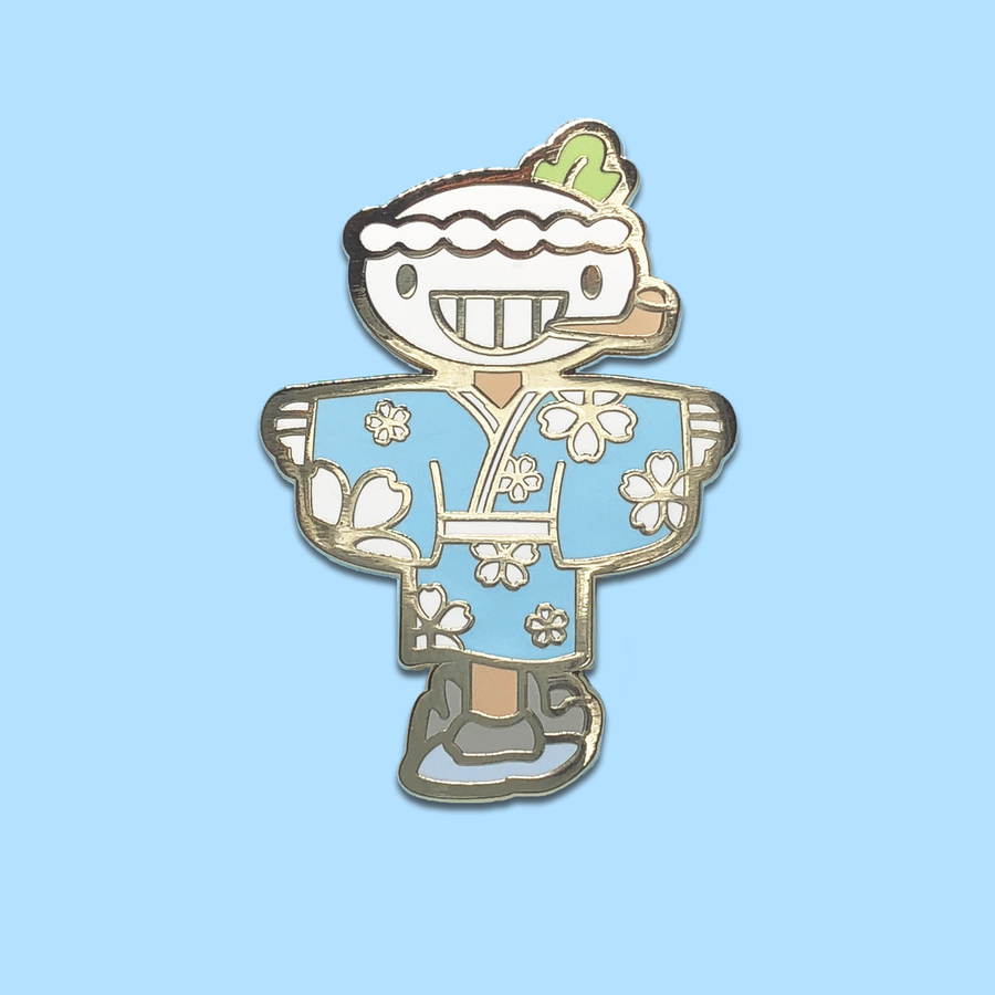 Onsen Turnip Head ✦ Enamel Pin