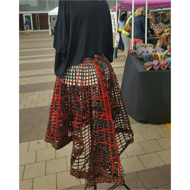 Ankara  Laced Skirt_High Low