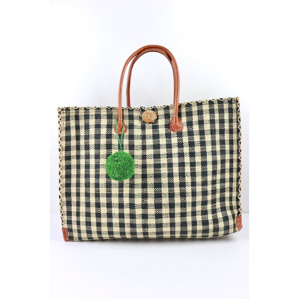 Meena Gingham Beach bag