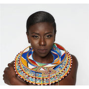 African Maasai Necklace/Wedding Beaded Necklace - Trufacebygrace