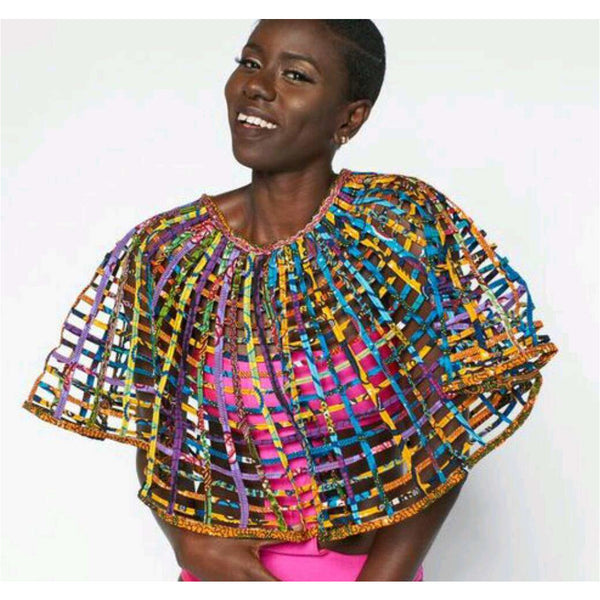 Ankara Laced Cape Large - Trufacebygrace