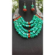 Obaa pa turquoise necklace set  on Sale