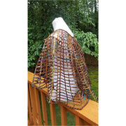 Handmade African Wax Print /Ankara Laced Cape Necklace - convertible, bathing suit cover up, skirt, poncho,cape With Tie - Trufacebygrace