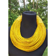 Multistrand cow genuine leather necklace - Trufacebygrace
