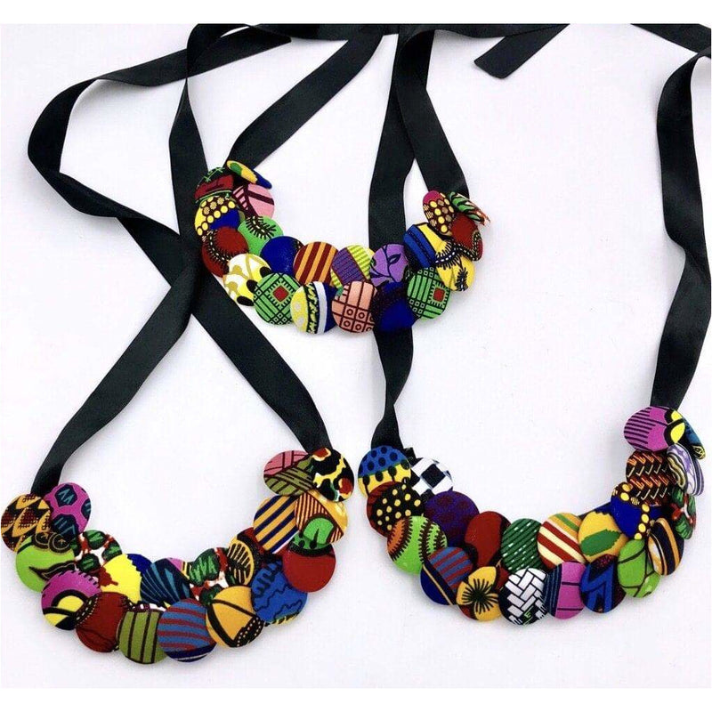 Obaa Ntoma buttons simple necklace/choker - Trufacebygrace