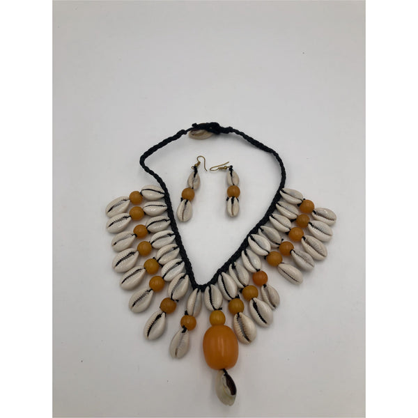 Halimato Cowry Shell Necklace Set - Trufacebygrace