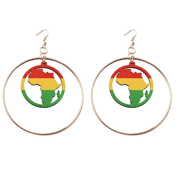 Afro American Flag Earrings - Trufacebygrace