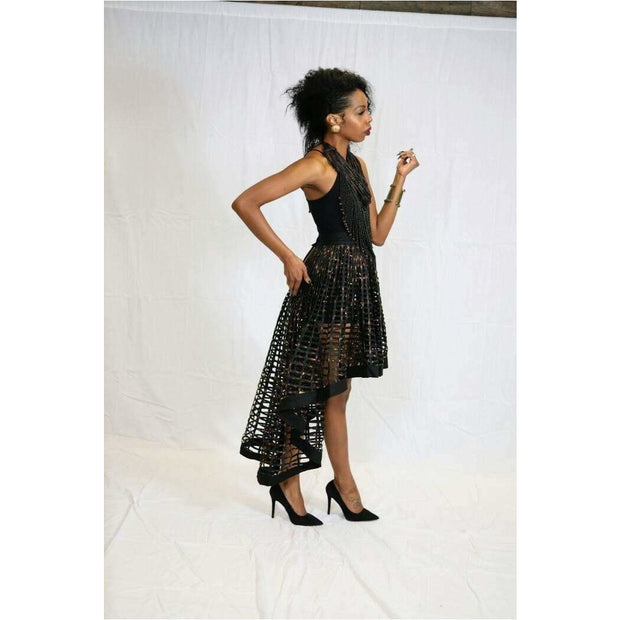 Ankara  Laced Skirt_High Low - Trufacebygrace