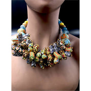 Krobo beads bunched necklace