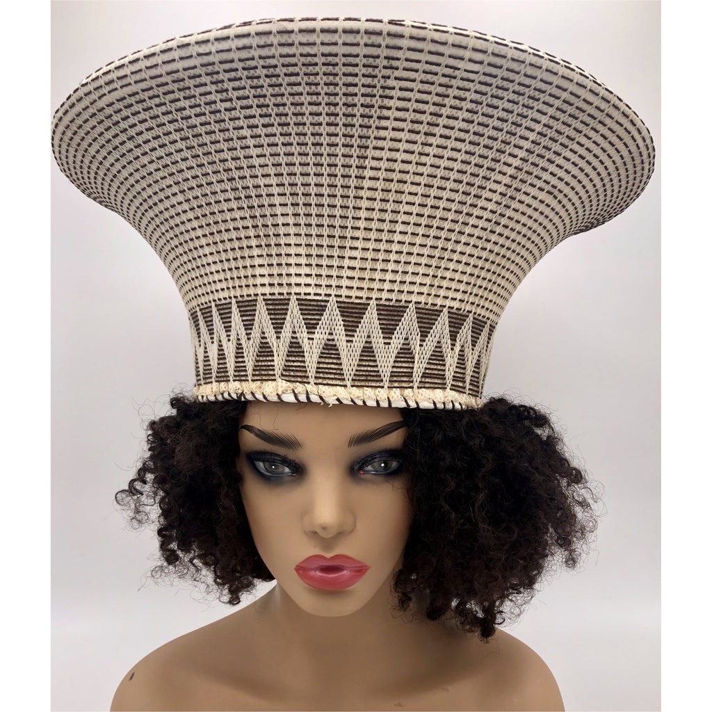 Zulu hat- Chocolate and Creme - Trufacebygrace