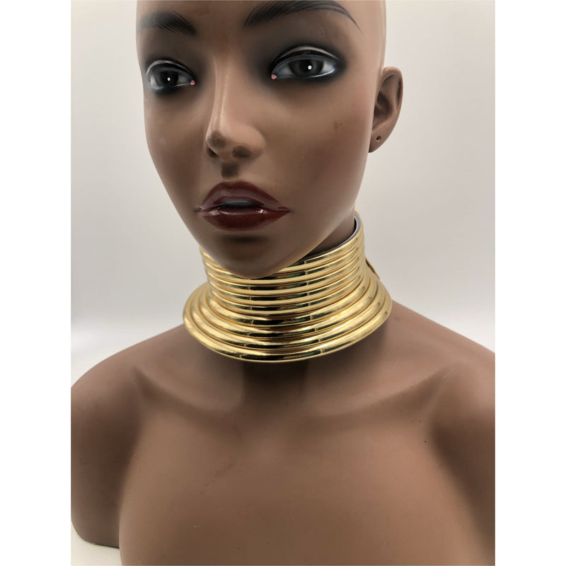 Okoye Choker- synthetic leather - Trufacebygrace