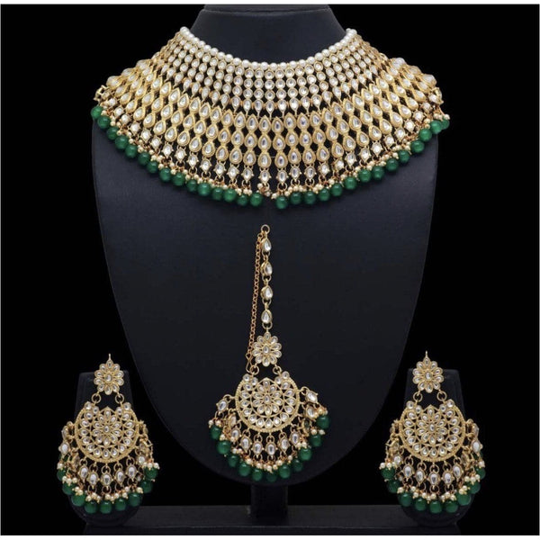 From the east Necklace With Earring & Maang Tikka - Trufacebygrace