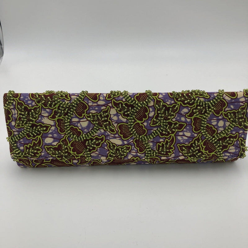 Beaded Ankara print Clutch only. - Trufacebygrace