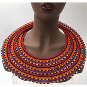 Maasai triple layer neckpiece