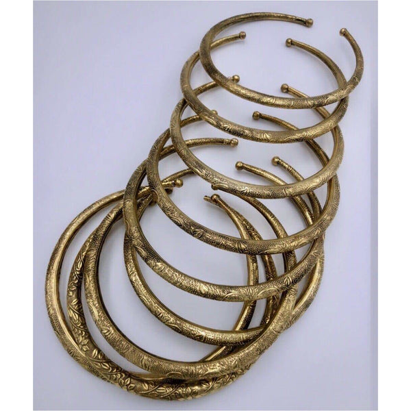 Tribal Antique Gold Plated Chokers - Trufacebygrace