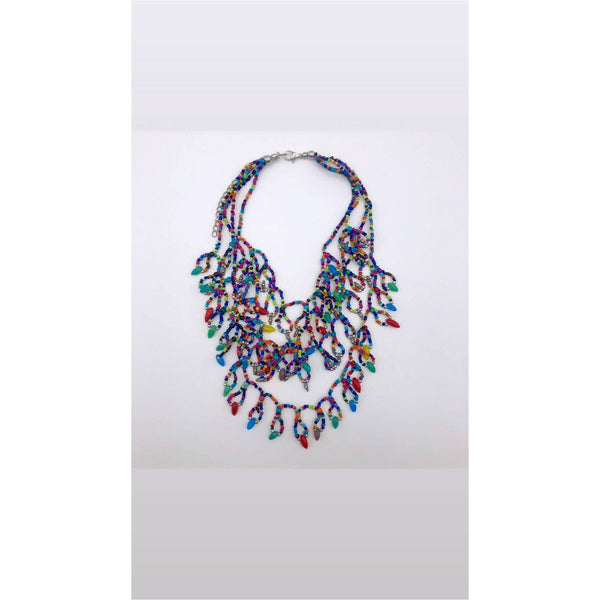 Ethnic glass beads Necklace - Trufacebygrace