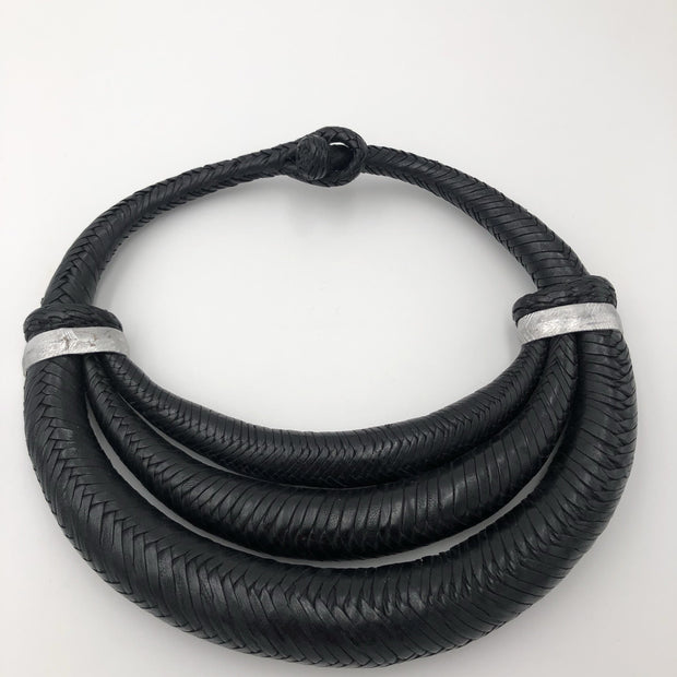 Solid Leather Choker tripled - Trufacebygrace
