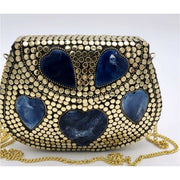 Blue Akoma Metal Bag - Trufacebygrace