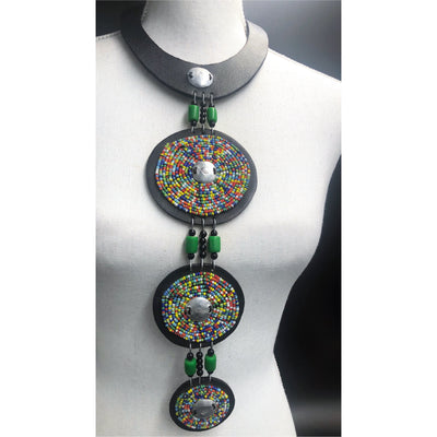 Akosua Mintah necklace -Green Multi sprinkles