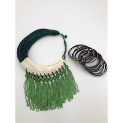 Genuine Leather horn and beads - Trufacebygrace