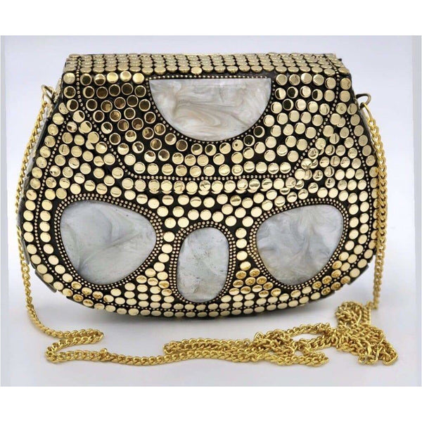 Gold Moon Metal Bag - Trufacebygrace