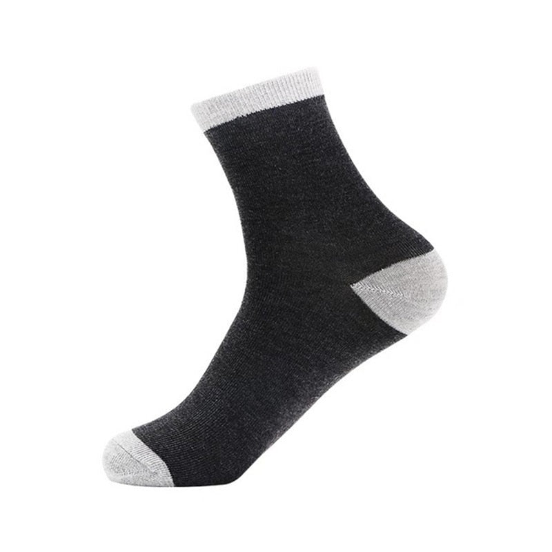 1 pair All Seasons Men's Business Casual Cotton Socks