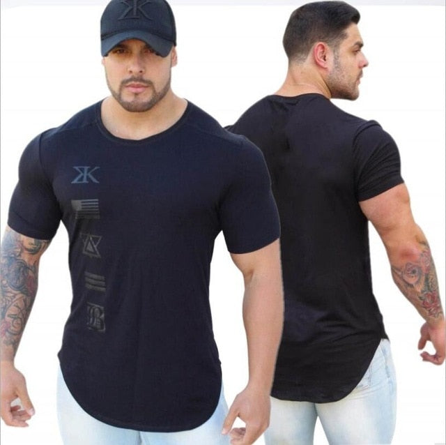 2018 New Gyms Fitne Engineers Design Male Novelty Men T shirt Fashion The milk silk T shirt Men Casual Short Sleeves T-shirt Men