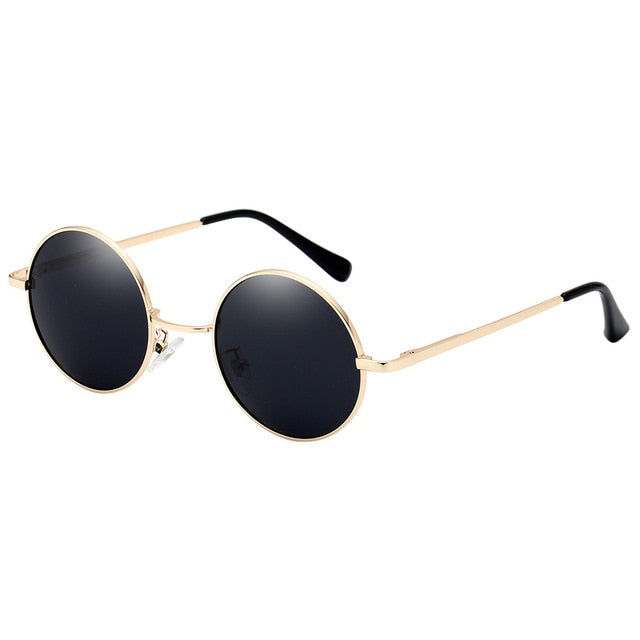 2018 New Hot sale Retro Polarized Sunglasses Men Round Silver Alloy Dark green Resin  Male Female Classic Women Eyewear