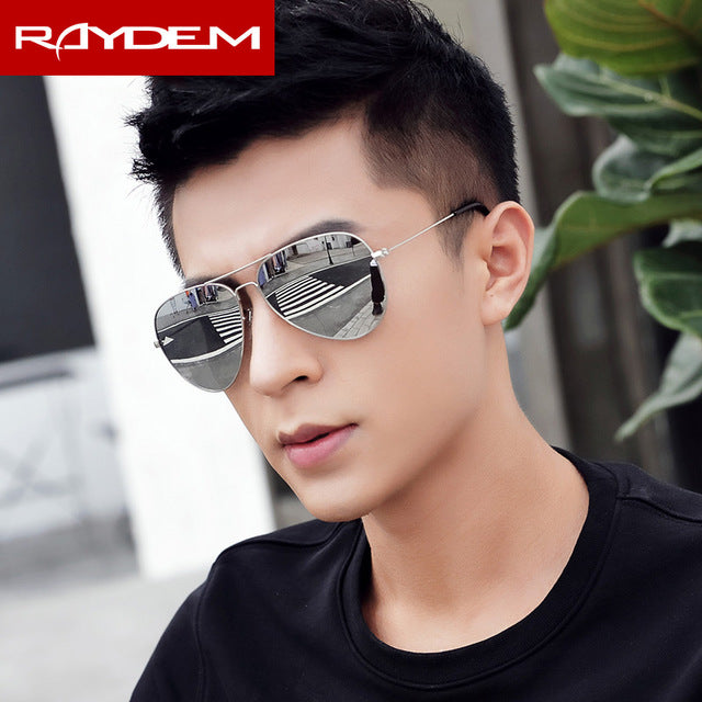 2018 New sunglasses men vintage Pilot Polarized Glass lens Sun glasses Driving Fishing oculos Mirror reflctive Women Eyewear