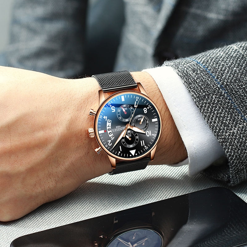 2019 Men Watches Man Business Chronograph Watches Top Luxury Brand Male Clock Quartz Classic Wrist Watches For Men Wristwatches