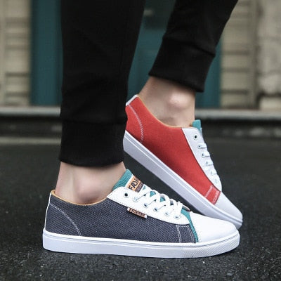 2019Men's shoes spring and autumn casual around different colors flat shoes with low men's sports shoes tennis men's adult shoes
