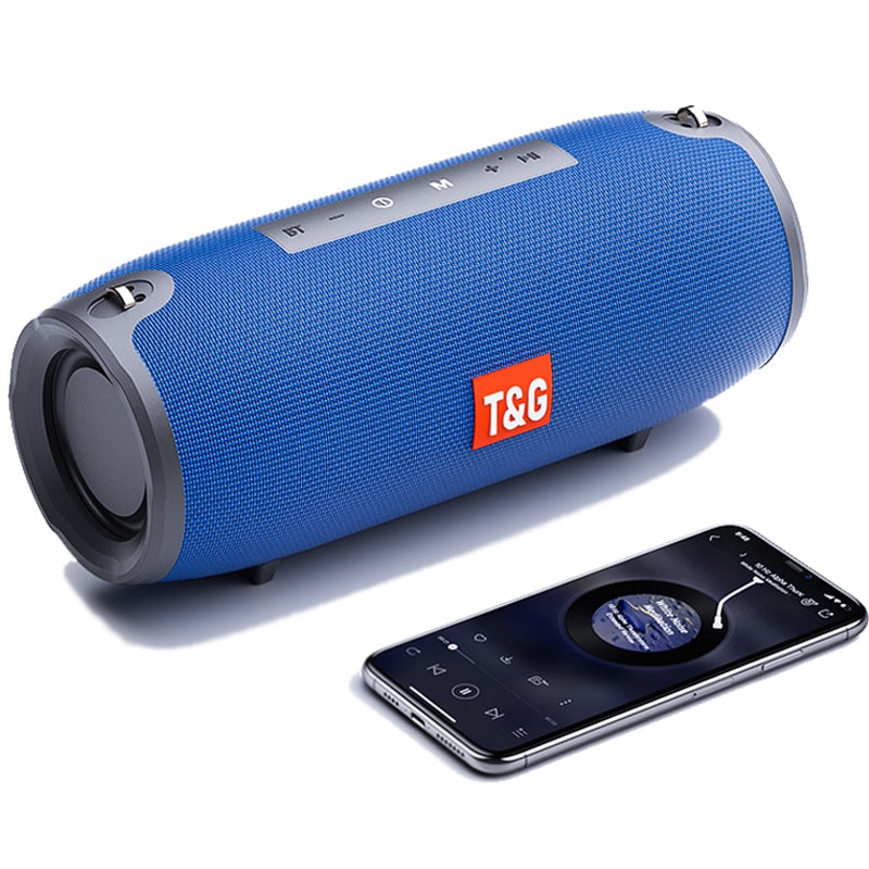 40W Bluetooth Speaker Portable Column Speaker Music Player Speakers Column Boom Box with FM Radio Aux TF Subwoofer Dolube TG118