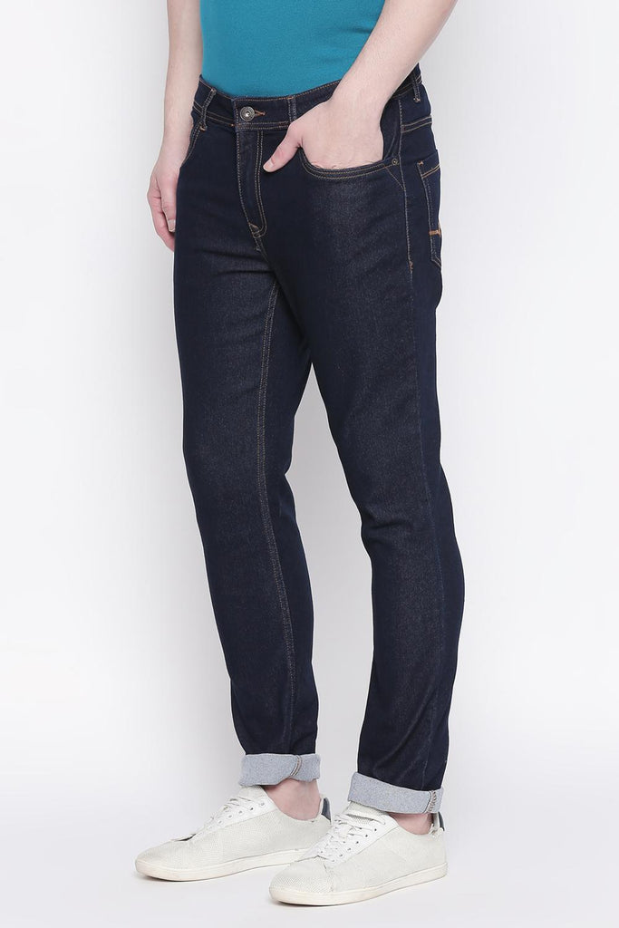 Bare Denim Men Solid Rinse Jeans