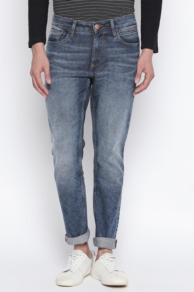 Sf Jeans Men Solid Blue Tint Jeans