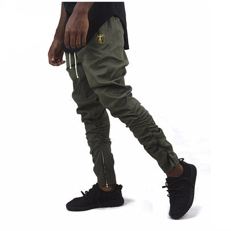 Autumn Men Pants Joggers Pants 2019 New Male Trousers Mens Joggers Solid Zipper ankle Pants Sweatpants Male Sports Track Pants