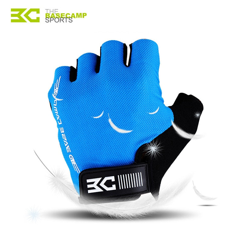 BASECAMP Cycling Gloves Half Finger Men Breathable Bicycle Sport Glove Anti-Slip Mountain Road Bike MTB Gloves Accessorie BC-204