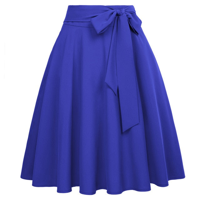 Belle Poque 2019 Pleated Skirts Women High Waist Skirt Butterfly Solid Causal Midi Skirts Black Skirts Women Plus Size Skirt