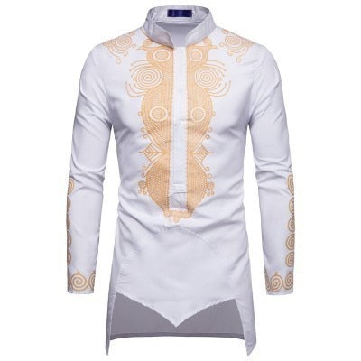 Black Uomo Hommes Kaftan Musulman Kurta Indian Muslim Clothing European Style Muslim Shirt Man Gilding Long Sleeve Novelty Tops