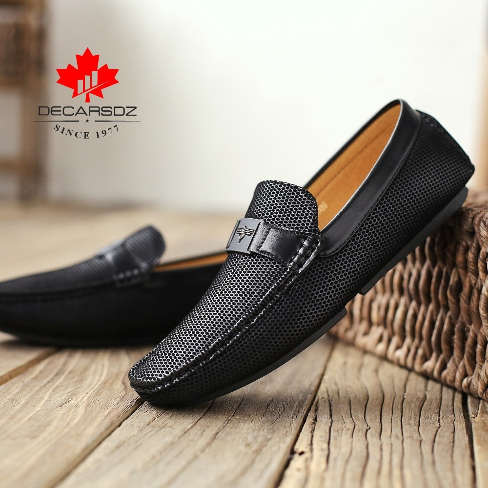 DECARSDZ 2019 Autumn Loafers Shoe Men Comfortable Boat Shoes Male Brand Driving Shoes New Lazy Footwear Black Men's Casual Shoes