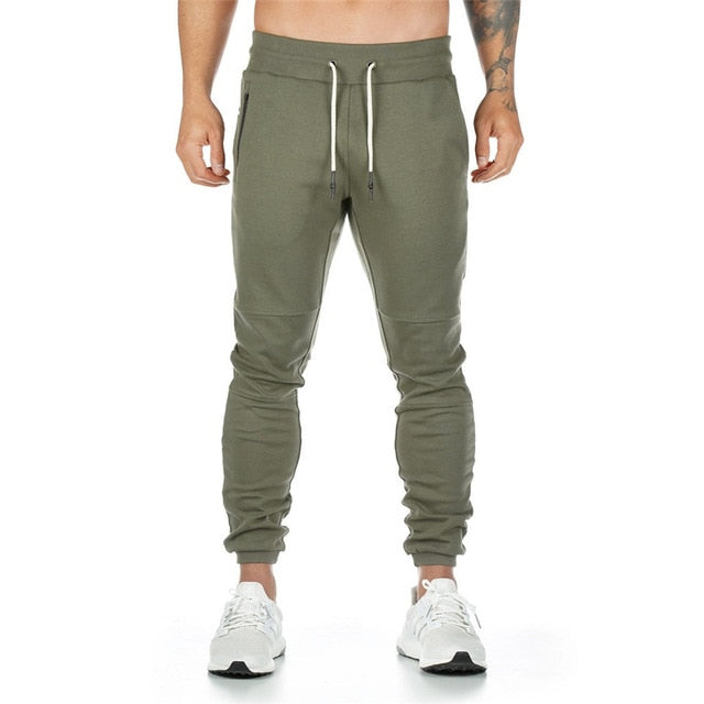 Fashion Joggers Sweatpants Men Casual Skinny Pants Male Gyms Fitness Sportswear Trousers Autumn Cotton Solid Pocket Track Pants