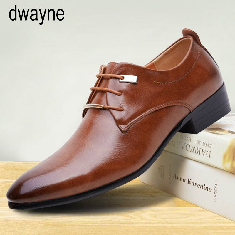 Fashion Men's Formal Business Shoes High Quality Pointed Dress Shoes Big Size  Oxfords Leather Men Shoes tyh789
